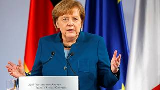 Watch: Merkel encourages multilateralism in the face of populism at Davos