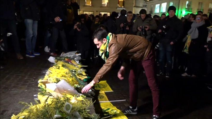 A Nantes, une veillée pour Emiliano Sala