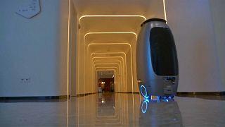 """شاهد: روبوتات لخدمة الزوار بفندق تابع لشركة """"علي بابا"""" الصينية"""