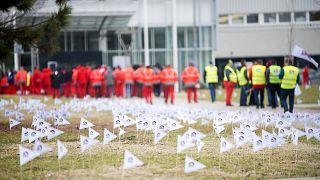 Egy hetes sztrájkba kezdenek a győri Audi dolgozói