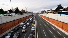 Uber & Co.: Taxler protestieren in Spanien