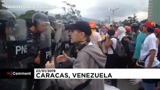 فيديو: اشتباكات بين المتظاهرين ورجال الشرطة في فنزويلا