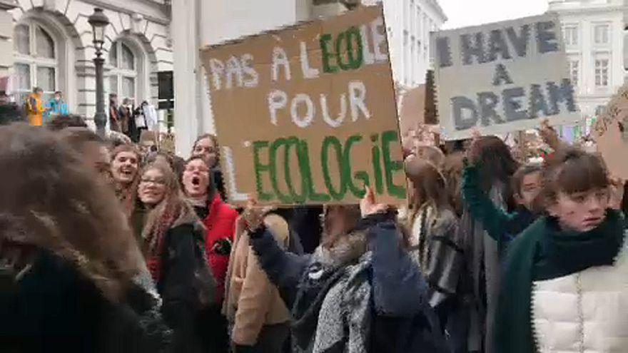 Belgien: Schüler-Demos für den Klimaschutz