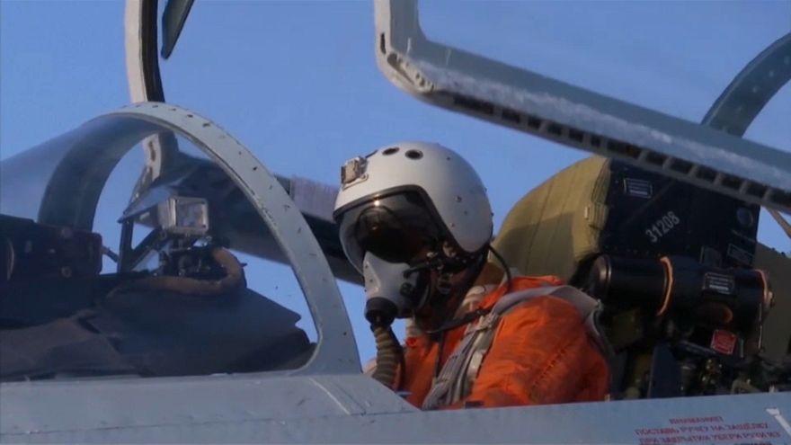 إقلاع مقاتلة روسية من نوع Su-27 لاعتراض طائرة استطلاع سويدية فوق البلطيق