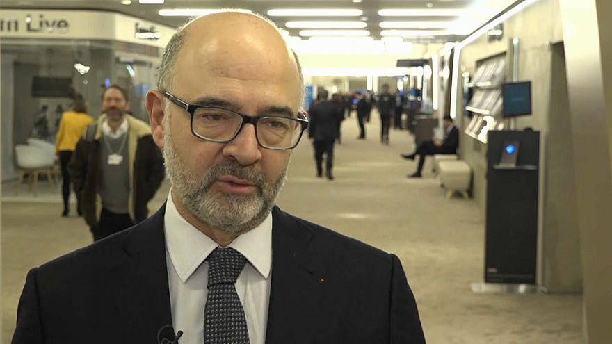 Davos : Pierre Moscovici appelle à l'unité des européens