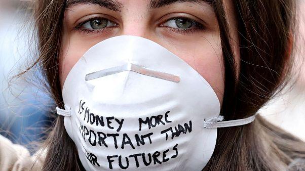 Diákok tüntetnek Belgiumban a Föld jövőjéért