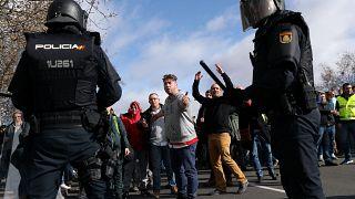 Espagne : des tensions pendant la manifestation des taxis