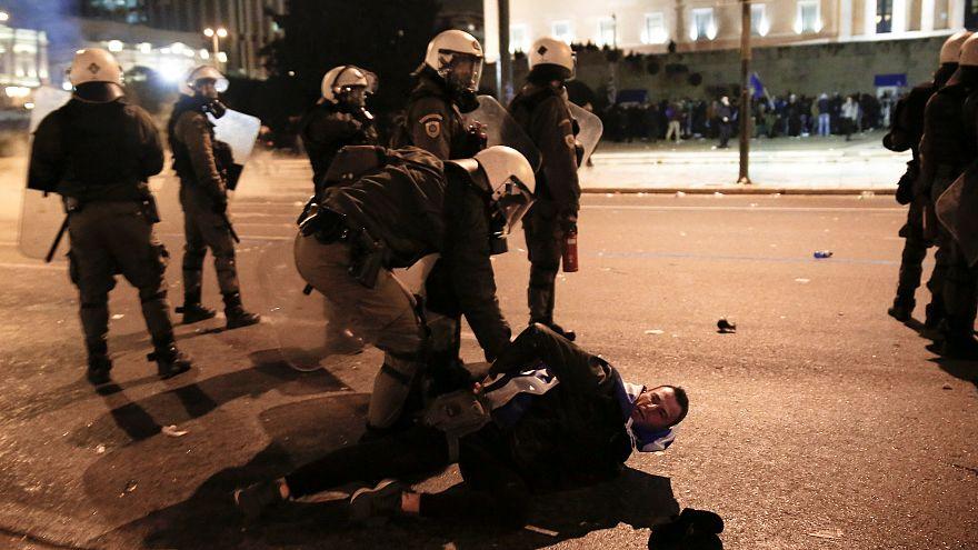 """Ausschreitungen in Athen vor Abstimmung über """"Nord-Mazedonien"""""""
