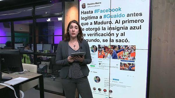 No, Facebook no dio la marca de verificación de Nicolás Maduro a Juan Guaidó