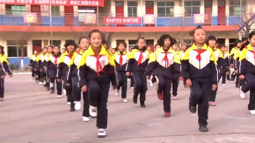 Зарядка в китайской школе