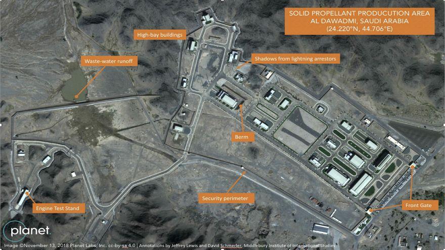 تصاویر ماهوارهای از یک سایت موشکی در مرکز عربستان