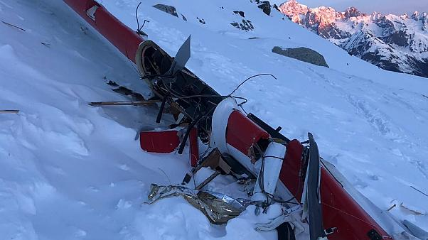 Seven people killed in mid-air collision over the Italian Alps