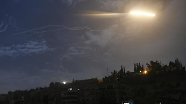 صورة ارشيفية لصاروخ في سماء سوريا