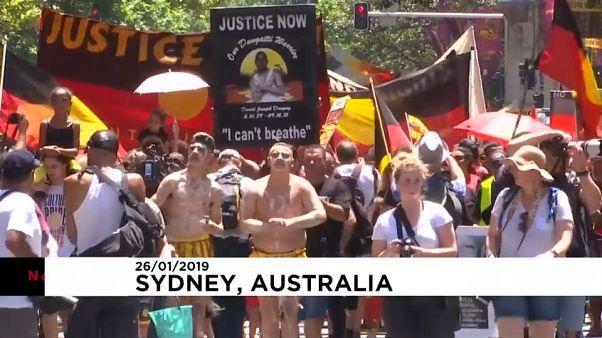 شاهد: مظاهرات في أستراليا للمطالبة بتغيير تاريخ العيد الوطني المثير للجدل