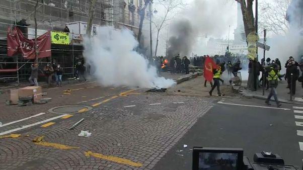 Al menos 42 detenidos en la última protesta de los chalecos amarillos