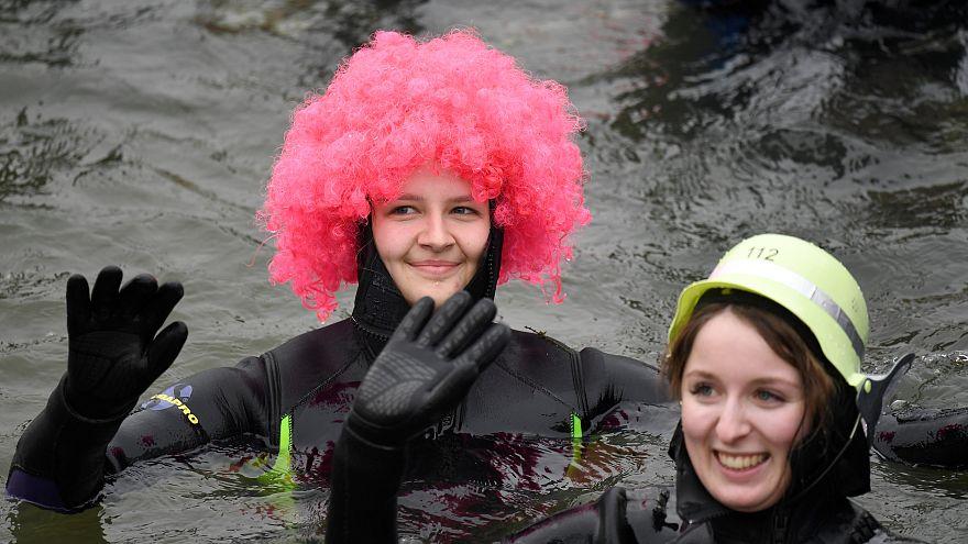 Etwa 2.000 machen mit beim 50. Donauschwimmen in Neuburg