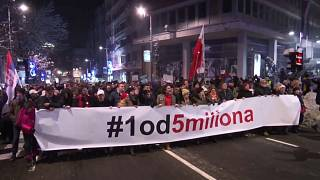 Thousands gather for anti-Vučić marches in Belgrade