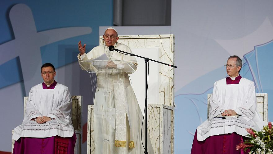 Pope says Catholic Church is weary