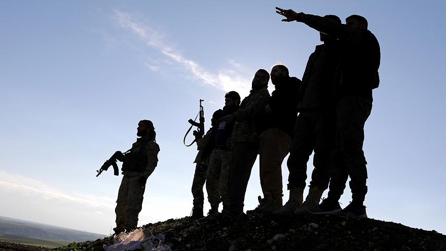 Rebel fighters in Syria have captured a number of foreign IS fighters