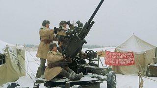 Des passionnés rejouent la percée du siège de Léningrad