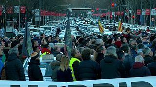 Los taxistas de Madrid mantienen la huelga