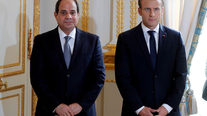 ماكرون ينتقد سجل حقوق الإنسان في مصر ويعتبره أسوأ من عهد مبارك