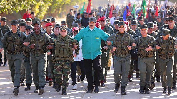 El Ejército de Venezuela fiel a Maduro en la cuenta de Twitter del líder chavista