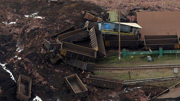 Photo de la mine brésilienne de Brumadinho, ensevelie par une marée de boue