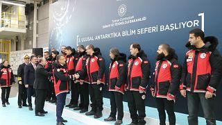 Türkiye'den Antarktika'ya ekip yola çıktı