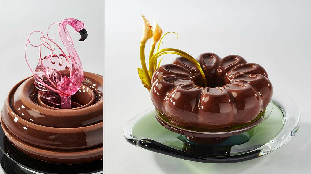 Vegan dessert creations at the French pastry competition
