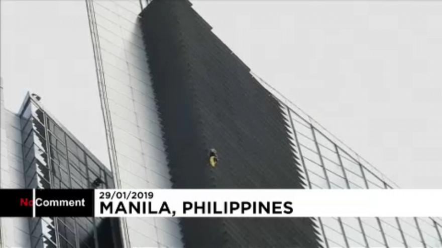 'French Spiderman' arrested for climbing 217-metre-tall GT Tower in Philippines