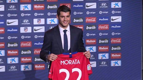 Álvaro Morata ya ejerce de jugador 'colchonero'