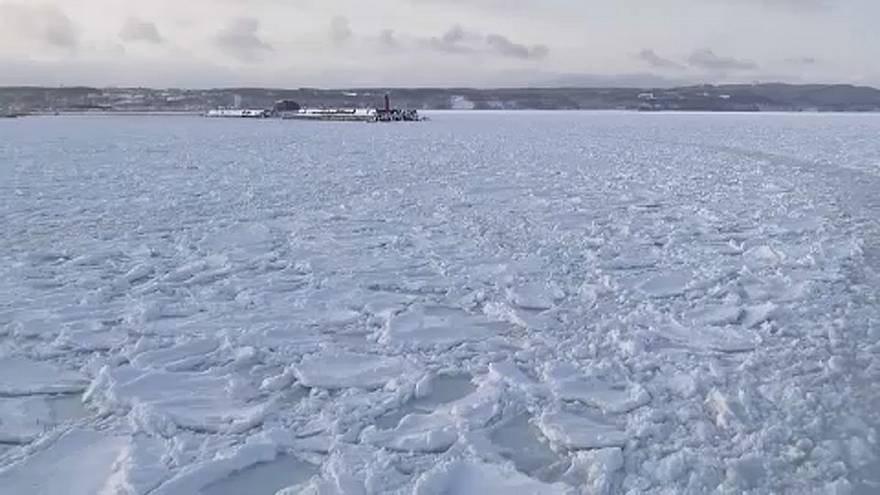 Elérte a jég Hokkaidót