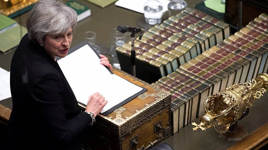 UK PM Theresa May in the House of Commons January 29, 2019
