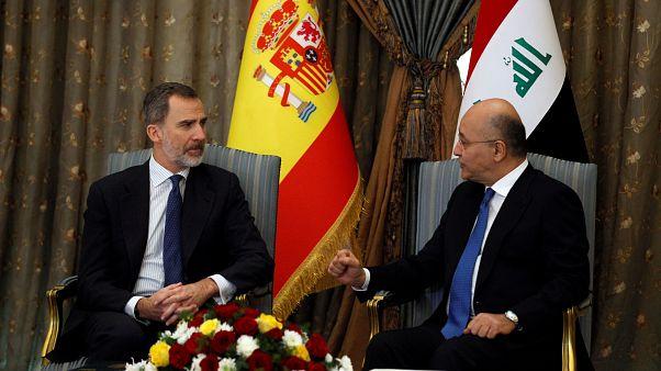 Felipe VI llega por sorpresa a Irak para soplar las velas junto a las tropas españolas