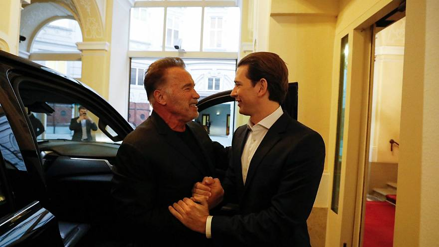 Arnold Schwarzenegger meets Austrian chancellor for talks ahead of climate change summit