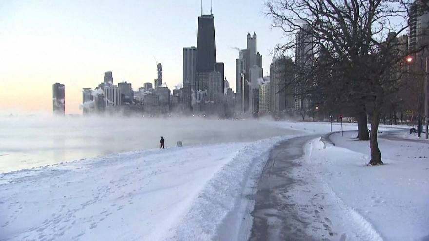 Deadly polar vortex brings temperatures as low as -29C to US Midwest