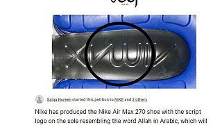 Air Max marka ayakkabı tabanında 'Allah' yazdığı gerekçesiyle Nike'a tepki büyüyor
