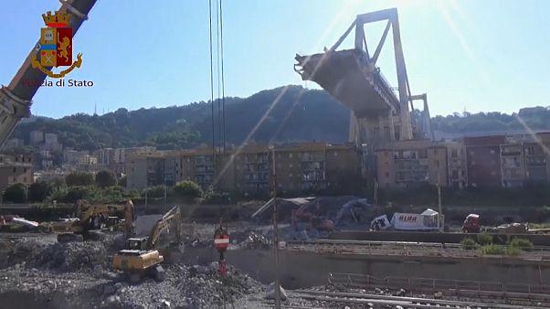 Ponte Morandi: demolizione, 8 febbraio