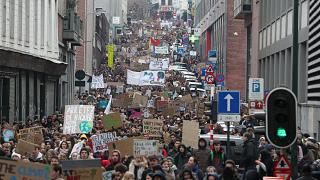 Youth climate change protests spread through Belgium in fourth week