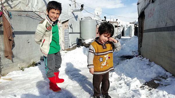 دهها کودک بر اثر سرما در اردوگاهی در شمال شرقی سوریه جان باختند