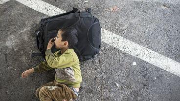 Bir Uygur çocuk