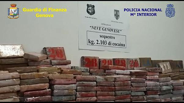 Two tonnes of cocaine seized in Italy's biggest narcotics bust for 25 years