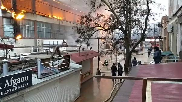 Крупный пожар в Кизляре