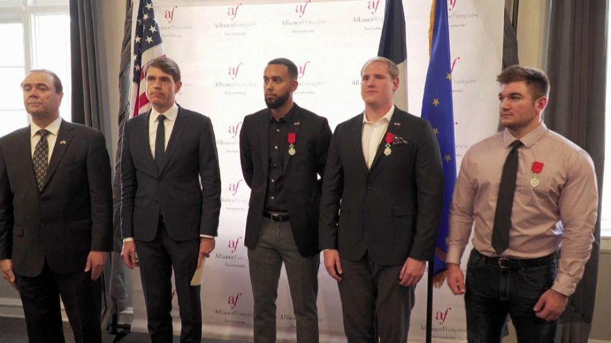Les héros du Thalys naturalisés français