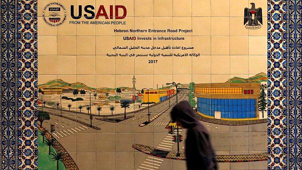 Filistin: ABD Uluslararası Kalkınma Ajansı (USAID) logosu