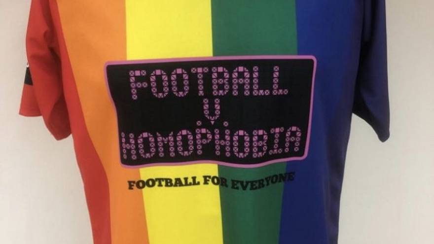 British football club trades shirts for one-off LGBT kit