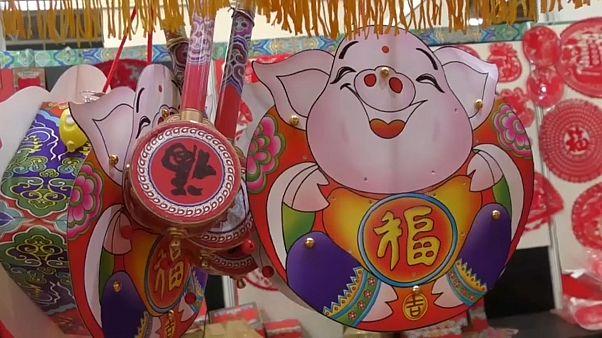 احتفالات سنة الخنزير في الصين