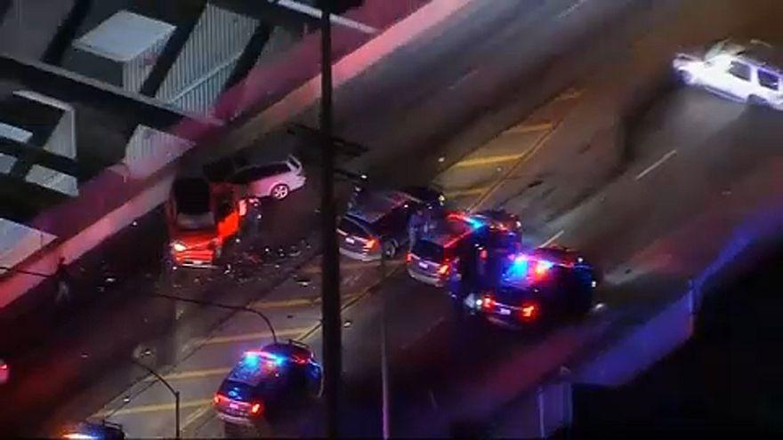 حادث اصطدام إثر مطاردة الشرطة لسائق