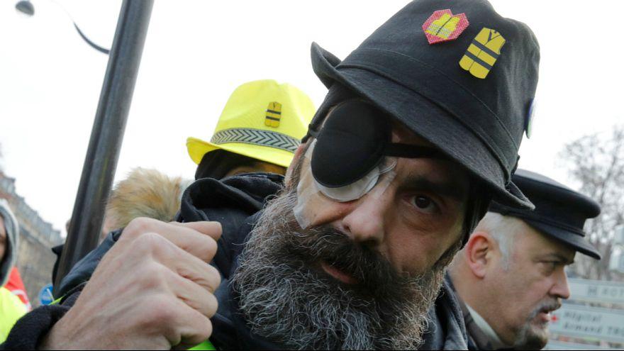 """Jeróme Rodruigues em mais um ato de protesto dos """"coletes amarelos"""""""